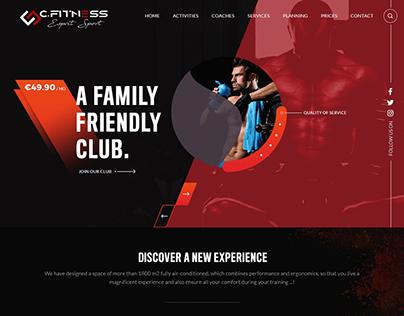 GYM Club Website Template Design by Nexstair