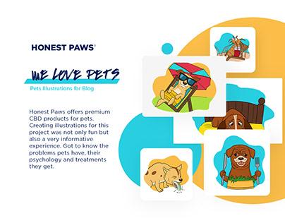 Pet Illustrations for Blog