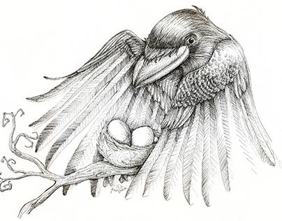 """Rabenmutter"" Illustration"