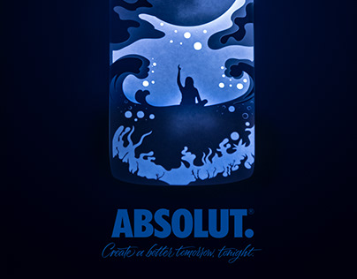 Shadowbox for Absolut vodka