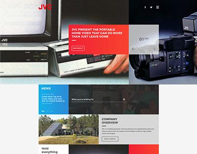 UI design concept #001 - JVC website