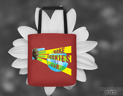 Make Cookies Not War⠐ Tote⠐ Saco de Ombro