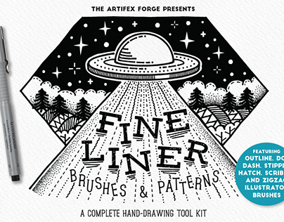 Fine Liner Brushes and Patterns
