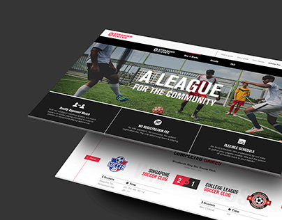 Stranger Soccer Website.