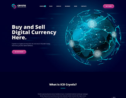Cryotis - Crypto Currency Website