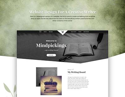 Website Redesigned For Writer