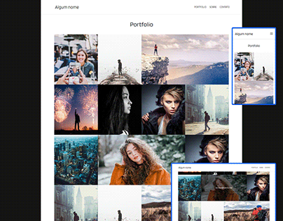 Portfolio For Photographer / Portfólio para Fotógrafo
