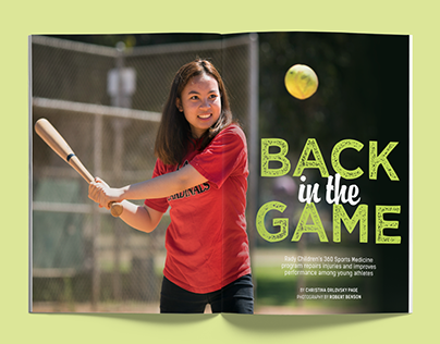 """Back in the Game"" Magazine Feature"
