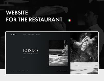 BOSKO - website for the restaurant