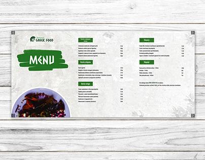 Menu Design Restauracja Greek Food