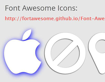 Highlight Icons with Text-Shadows