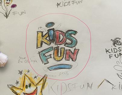 Kids Fun - Logo Design Process
