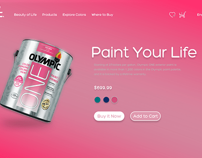 【UI/ Web】Olympic Paint Store