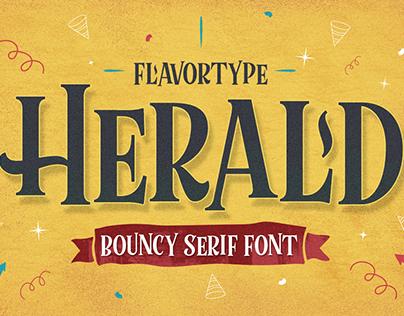 Herald Bouncy Typeface
