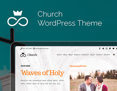 Church WordPress Theme - Responsive View