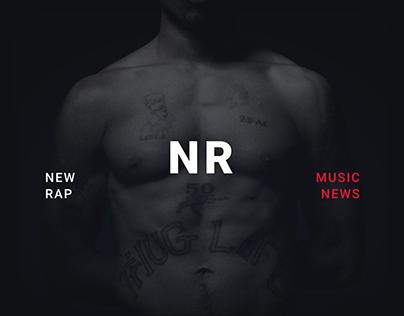 NR / New rap - music news / Website concept