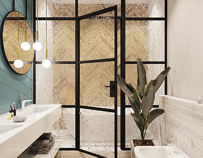 Bathroom in Novopecherskie Lypki by AIR Studio