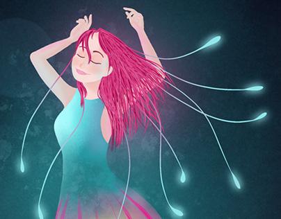 Jellyfish Girl Illustration