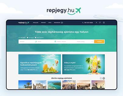 Repjegy.hu flight booking UX/UI