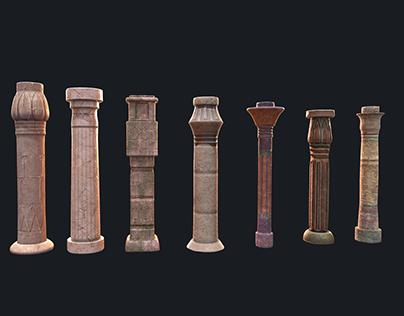 Egypt Columns 3D