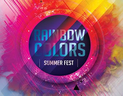 RAINBOW COLORS SUMMER FEST