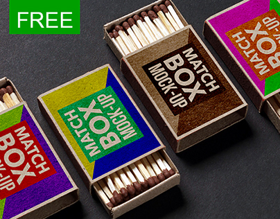 FREE Matchbox Mock-up