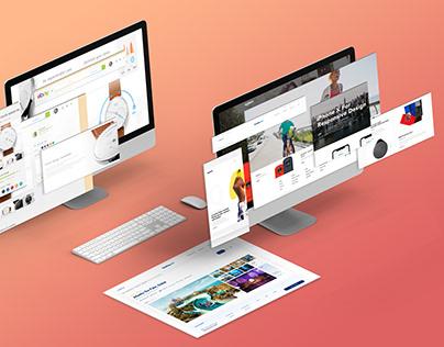 Isometric Website Screen Mockups