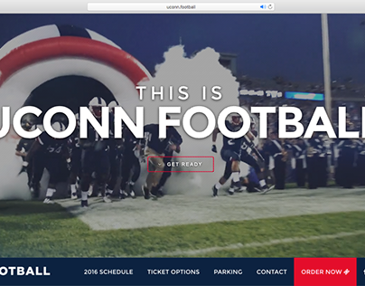 UConn Football Microsite