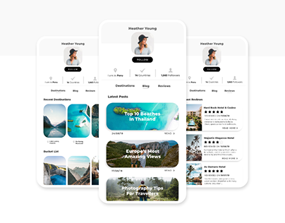User Profile - Social Travel App (Daily UI Challenge)