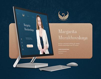 Margarita Murahovskaya website design