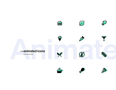 — Animated food icons free