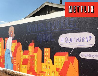 Netflix - Queen Sono Activation Mural
