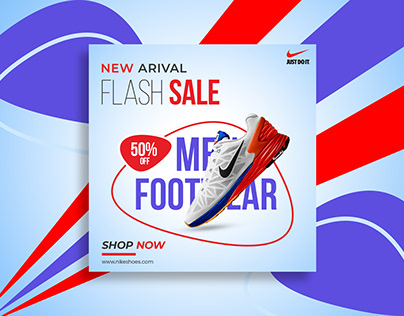 Men Footwear Social Media Post Banner Design