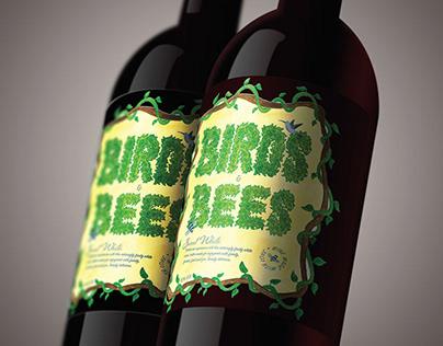 Birds & Bees - Redesigned Wine Label
