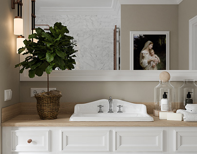 White Bathroom | CGI