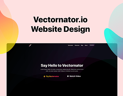 Vectornator Website design
