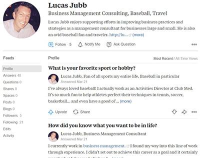 Quora (FREE Advice!) - Lucas Jubb