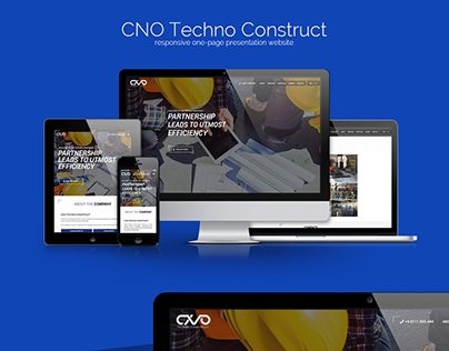 CNO Techno Construct - Responsive one-page presentation