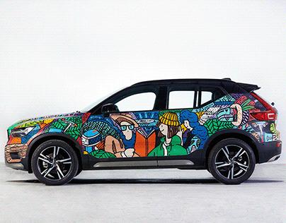 Volvo Art on Car