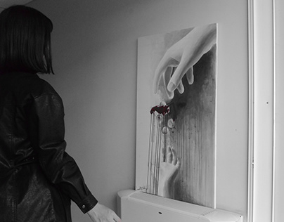 NOZO   'capitalism' acrylics on canvas 70x120cm , 2019