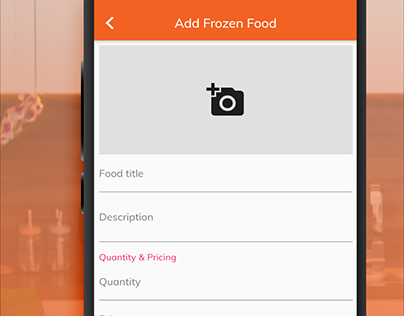 designed app preview screen for iamchef
