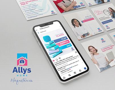 Allys Home | Social Media maquetación y lanzamiento