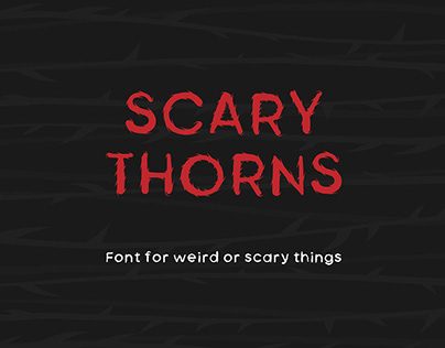 Free Scary Thorns Sans Serif Font