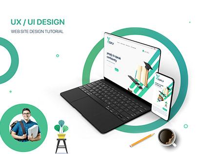Web Site Design Tutorial (Logo Design & UX UI DESIGN)