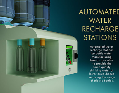 AUTOMATED WATER RE-CHARGE STATIONS.