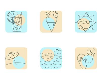 "Icons ""Beach"""