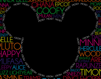Disney Word Cloud