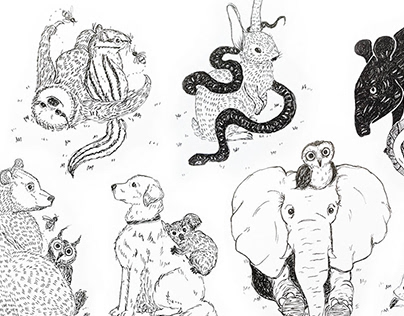 Ink and Pen Animal Combinations