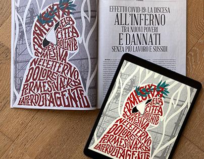 FQ Millennium magazine - Dante illustration