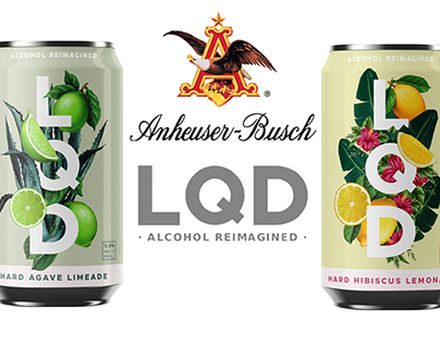 Packaging Illustrations for New LQD by Anheuser-Busch